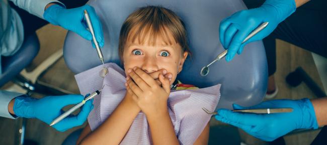 A menudo los niños tienen miedo al dentista